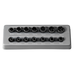 "Grey Pneumatic 14 Piece 1/4"" Drive Surface Drive Standard Length Metric Impact Socket Set"