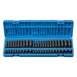 "Grey Pneumatic 48 Piece 1/4"" Drive Standard, Deep Fractional and Metric Master Impact Socket Set"