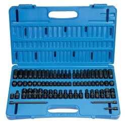 "Grey Pneumatic 71 Piece 1/4"" Drive Surface Drive Master Impact Socket Set"