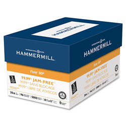 Hammermill Fore® Fore® Bulk MP 3 Hole Paper, 20 lb, White, 8 1/2 x 11, 10 500 Sheet Reams/Carton