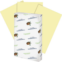 "Hammermill Multipurpose Paper, 20lb., 8-1/2"" x 14"", Canary"