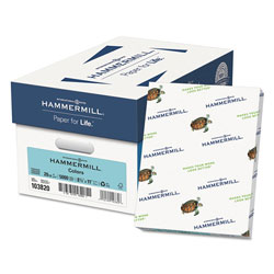 Hammermill MP Color Paper, Turquoise, 20 lb., 8 1/2 x 11, 500/Ream