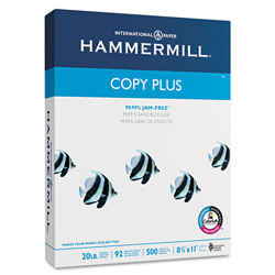 Hammermill White Copy Plus Multipurpose Letter Sized Paper, 8 1/2x11, 20 lb.