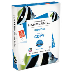 Hammermill Copy Plus Multipurpose 3 Hole White Paper, 8 1/2x11, 20 lb