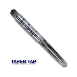"Hanson High Carbon Steel Machine Screw Fractional Taper Tap 3/8"" to 24 NF"