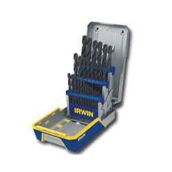 Hanson 29 Piece Drill Bit Industrial Set Case, Black Oxide