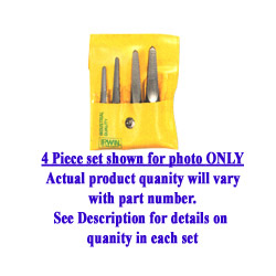 Hanson 5 Piece Straight Flute ST 1 ST 5 Screw Extractor Set Carded