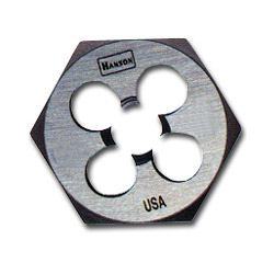"Hanson High Carbon Steel Hexagon 1"" Across Flat Die 3/8"" to 24 NF"