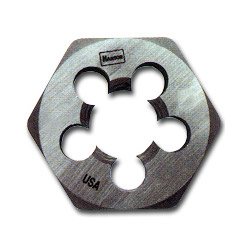 "Hanson High Carbon Steel Hexagon 1"" Across Flat Die 8mm to 1.25"