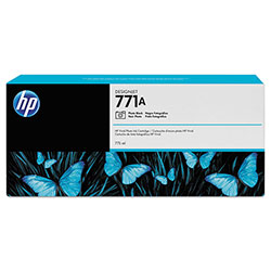 HP CE043A (HP 771) Ink Cartridge, Photo Black, 775 mL