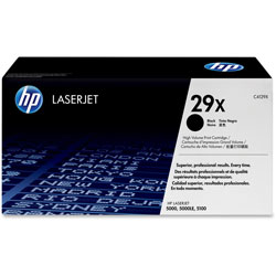 HP 29X Black Toner Cartridge, Model C4129X, Page Yield 10000