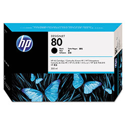 HP 80 Black Ink Cartridge ,Model C4871A ,Page Yield 2200