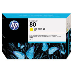 HP 80 Yellow Ink Cartridge ,Model C4873A ,Page Yield 2200