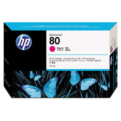 HP 80 Magenta Ink Cartridge ,Model C4874A ,Page Yield 2200