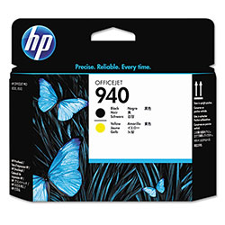 HP 940 Black and Yellow Ink Cartridge, Model C4900A, Page Yield 900