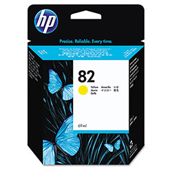 HP 82 Yellow Ink Cartridge ,Model C4913A ,Page Yield 1400