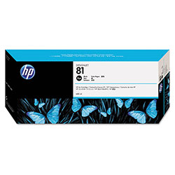 HP 81 Black Ink Cartridge ,Model C4930A ,Page Yield 1000
