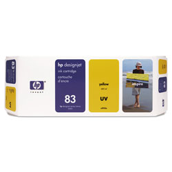 HP 83 Yellow Ink Cartridge ,Model C4943A ,Page Yield 680 ml