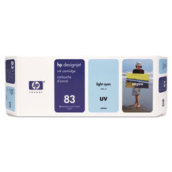 HP 83 Cyan Ink Cartridge ,Model C4944A ,Page Yield 680 ml