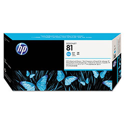 HP 81 Cyan Ink Cartridge ,Model C4951A ,Page Yield 13 ml