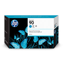 HP 90 Cyan Ink Cartridge ,Model C5061A ,Page Yield 400 ml