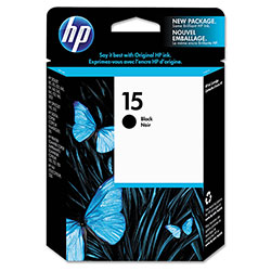 HP 15 Black Ink Cartridge ,Model C6615DN ,Page Yield 603