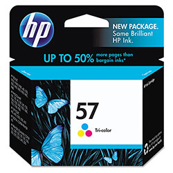 HP 57 Cyan/Magenta/Yellow Ink Cartridge ,Model C6657AN ,Page Yield 400