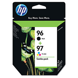 HP 96 Black and Cyan/Magenta/Yellow Ink Cartridge ,Model C9353FN ,Page Yield 60000