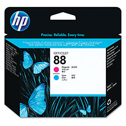 HP 88 Cyan/Magenta Ink Cartridge ,Model C9382A ,Page Yield 41500