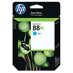 HP 88 Cyan Ink Cartridge ,Model C9391AN ,Page Yield 1700