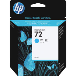 HP 72 Cyan Ink Cartridge ,Model C9398A ,Page Yield 1000