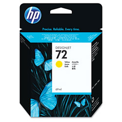 HP 72 Yellow Ink Cartridge ,Model C9400A ,Page Yield 722