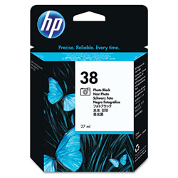 HP 38 Black Ink Cartridge ,Model C9413A ,Page Yield 4400