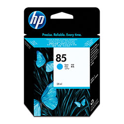 HP 85 Cyan Ink Cartridge ,Model C9425A ,Page Yield 2200