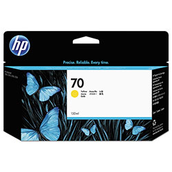 HP 70 Yellow Ink Cartridge ,Model C9454A ,Page Yield 24000