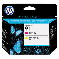 HP 91 Magenta/Yellow Ink Cartridge ,Model C9461A ,Page Yield 140