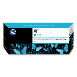 HP 91 Cyan Ink Cartridge ,Model C9467A ,Page Yield 480