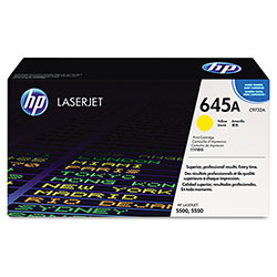 HP 645A Yellow Toner Cartridge, Model C9732A, Page Yield 12000