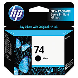 HP 74 Black Ink Cartridge ,Model CB335WN ,Page Yield 850
