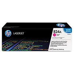 HP 824A Magenta Toner Cartridge, Model CB383A, Page Yield 21000