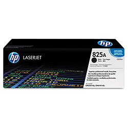 HP 825A Black Toner Cartridge, Model CB390A, Page Yield 19500