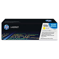 HP 125A Yellow Toner Cartridge, Model CB542A, Page Yield 1400
