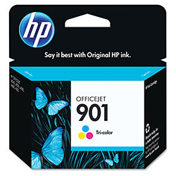 HP 901 Cyan/Magenta/Yellow Ink Cartridge, Model CC656AN, Page Yield 360