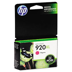 HP 920XL Magenta Ink Cartridge ,Model CD973AN ,Page Yield 700
