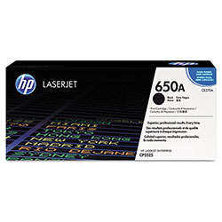HP 650A Black Toner Cartridge, Model CE270A, Page Yield 13000