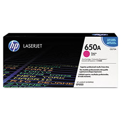 HP 650A Magenta Toner Cartridge, Model CE273A, Page Yield 13000