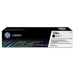 HP 126A Black Toner Cartridge, Model CE310A, Page Yield 1200