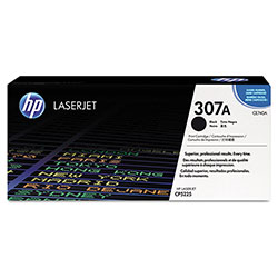 HP 307A Black Toner Cartridge, Model CE740A, Page Yield 5000