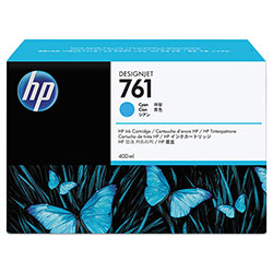HP 761 Cyan Ink Cartridge ,Model CM994A ,Page Yield 480