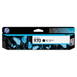 HP 970 Black Inkjet Cartridge, Model CN621AM, 3000 Page Yield